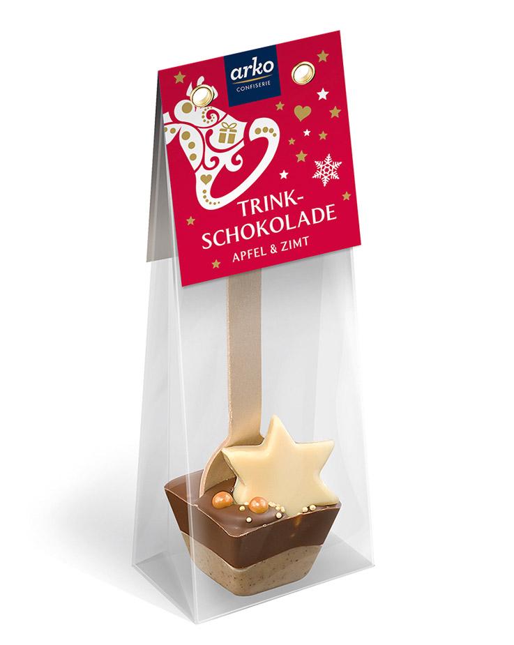 Trinkschokolade Apfel-Zimt von arko, 55 g