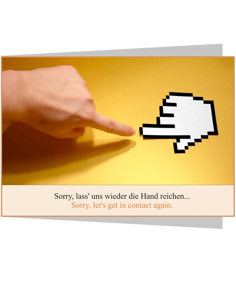 Grußkarte Sorry