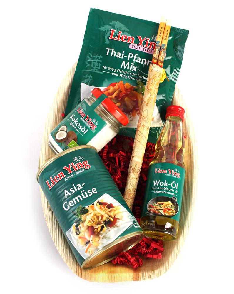 Geschenkkorb Wok Mix mit Thai Feinkost