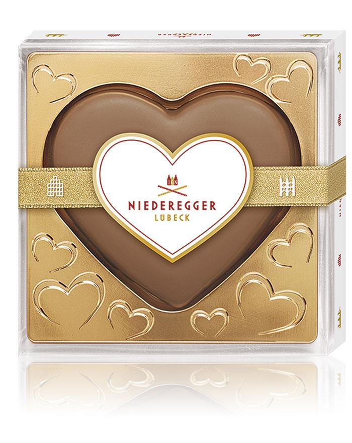 Niederegger Marzipan-Herz mit Marc de Champagne, 120 g