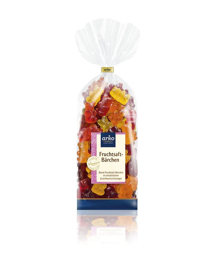 Fruchtsaft-Bärchen von arko, 250 g