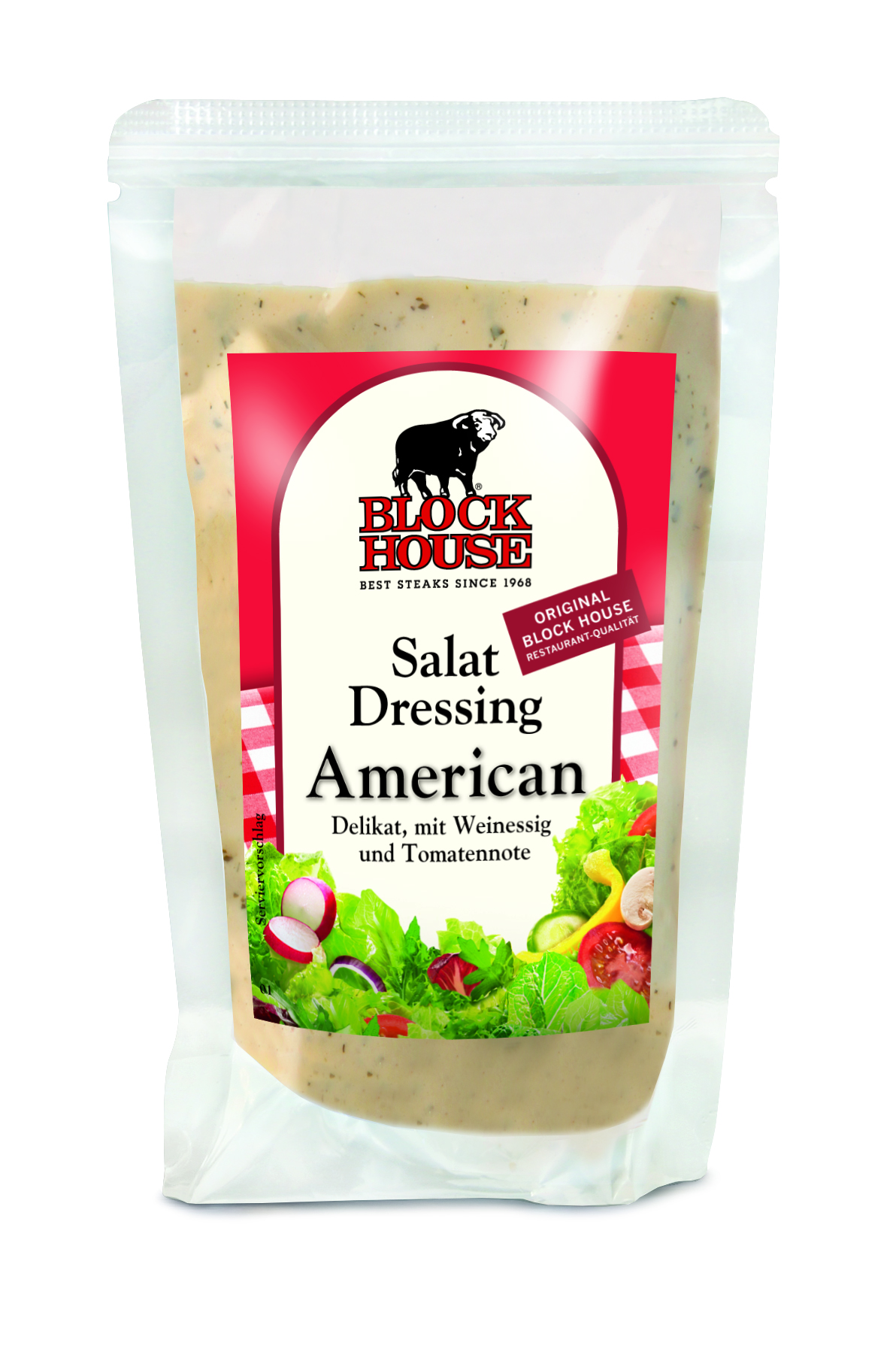 Block House Salat Dressing American, Folienbeut...