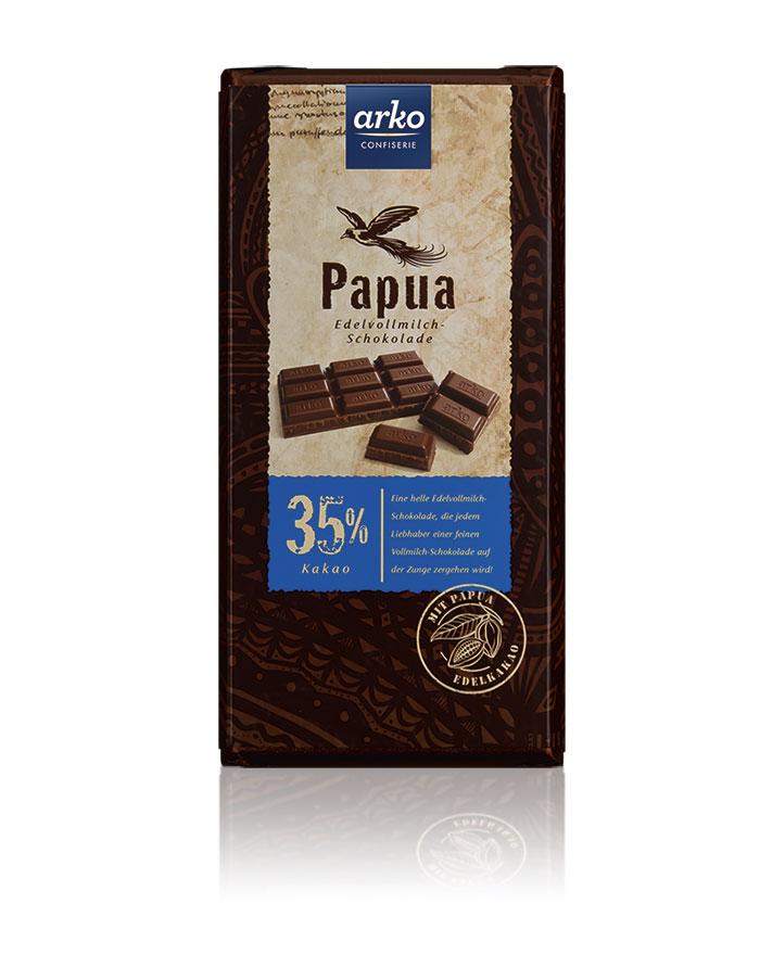 Tafel - Ursprung Papua Edelvollmilch-Schokolade...