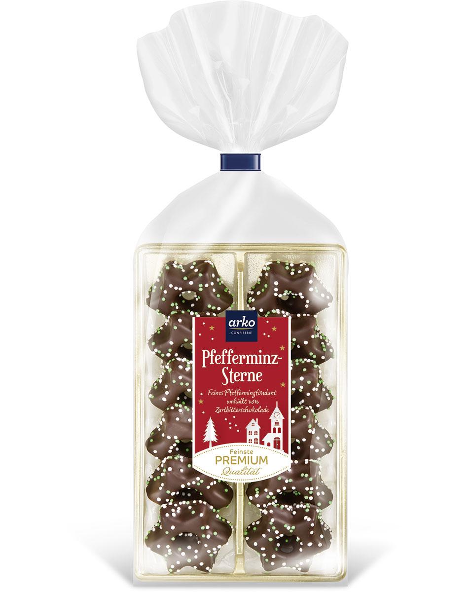 pfefferminz-sterne-in-dunkler-schokoladenhulle-von-arko-150-g