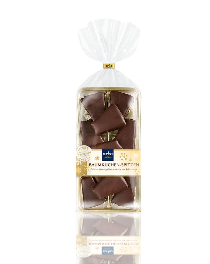 Baumkuchenspitzen Zartbitter-Schokolade von arko, 100 g