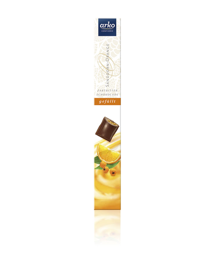 Schokolade Sanddorn-Orange Zartbitter-Schokolade von arko, 50 g