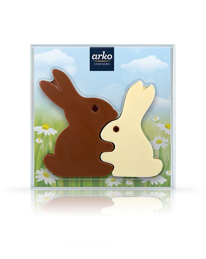Schokoladiges Hasenpärchen von arko