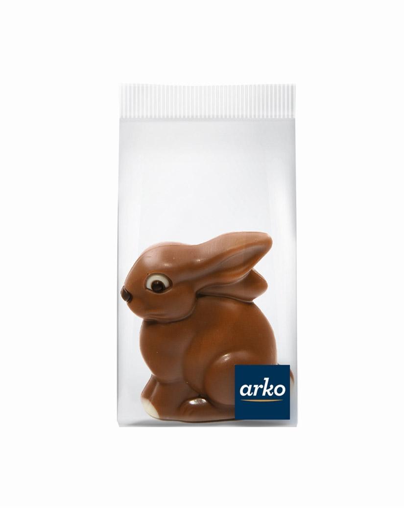 Schokoladen-Sitzhase, Vollmilchschokolade von arko