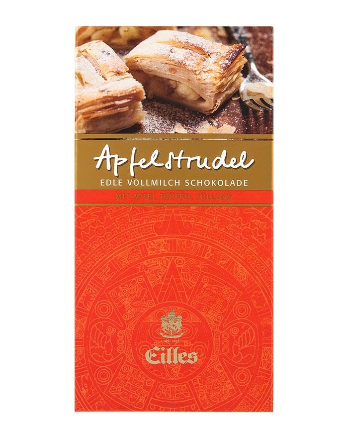 Eilles Apfelstrudel Vollmilch - Schokolade , 100 g