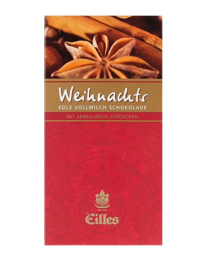 Eilles Weihnachtsschokolade Vollmilch mit Spekulatius, 100 g