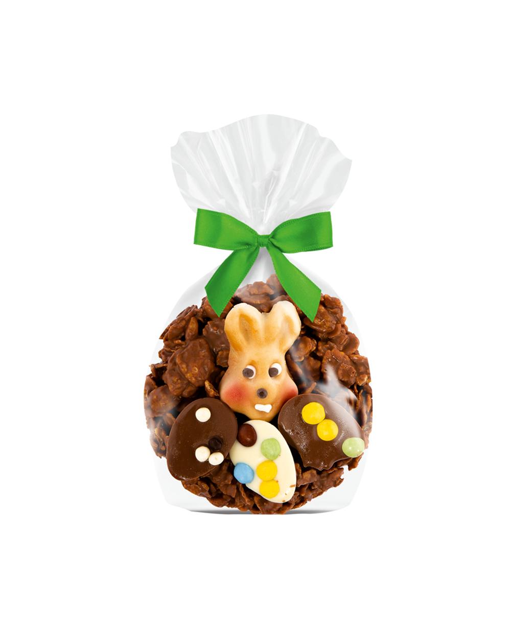 Schokoladen-Osternest mit Hase von EILLES, Vollmilchschokolade