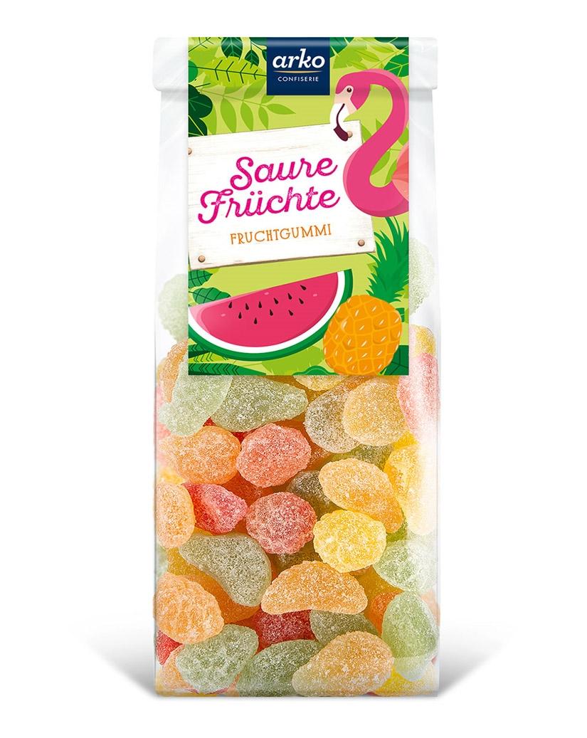 Saure Früchte von arko, 250 g