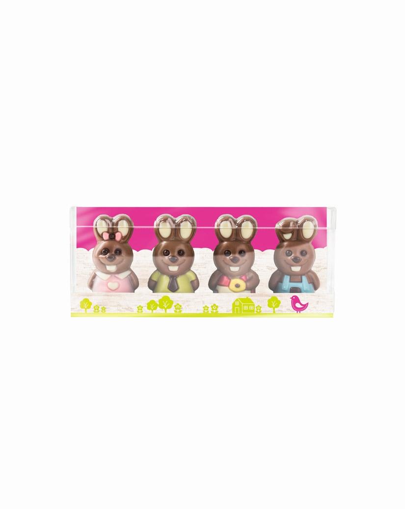Mini-Schokoladen-Hasenfamilie, Edelvollmilchschokolade von arko
