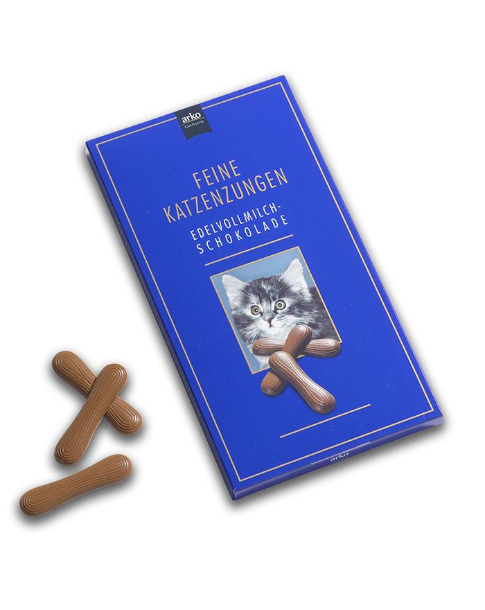 Feine Katzenzungen Edelvollmilch-Schokolade von arko, 75 g