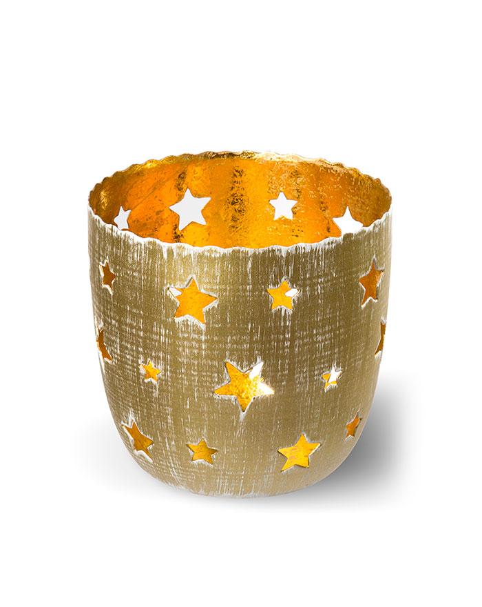 Teelichthalter Sterne´´, gold von arko´´