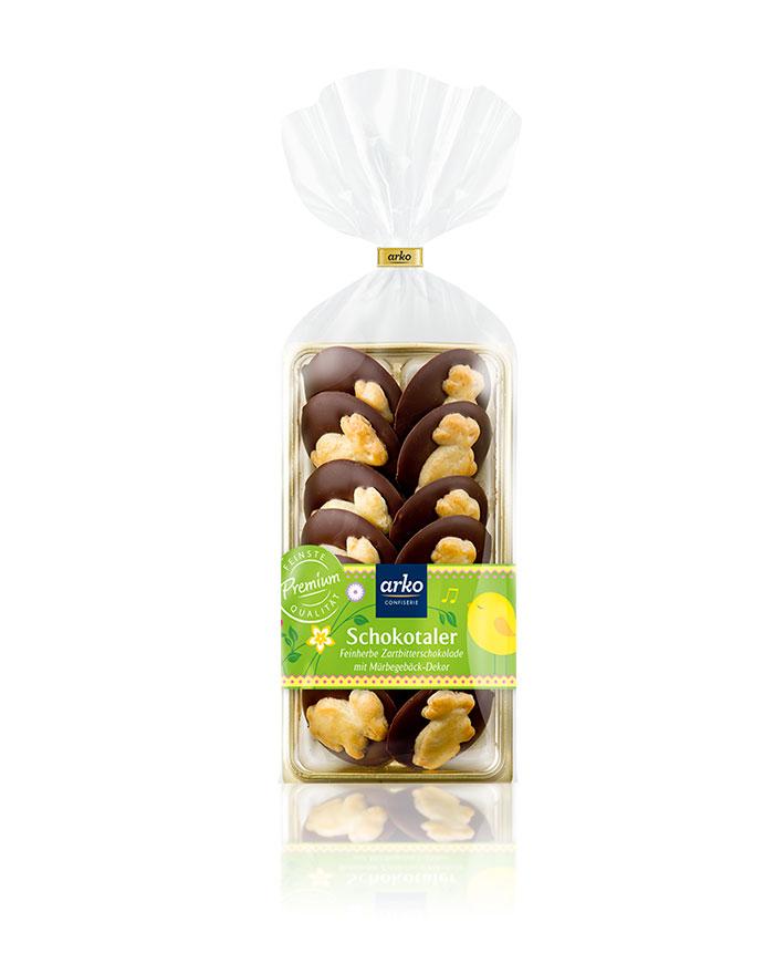 Schokotaler Hase, Zartbitter-Schokolade von arko