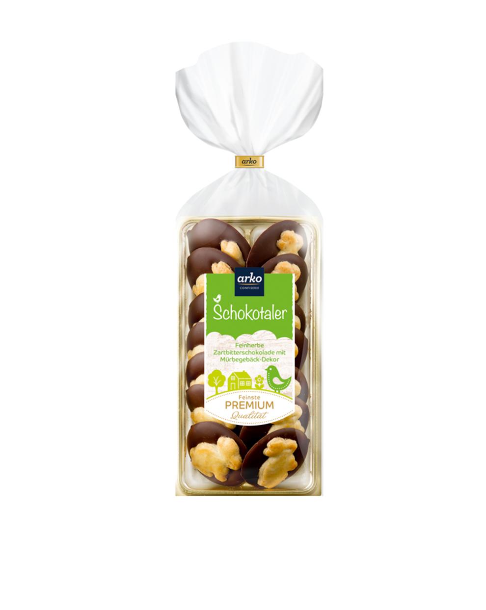 Schokoladentaler Hase Zartbitter Schokolade von arko
