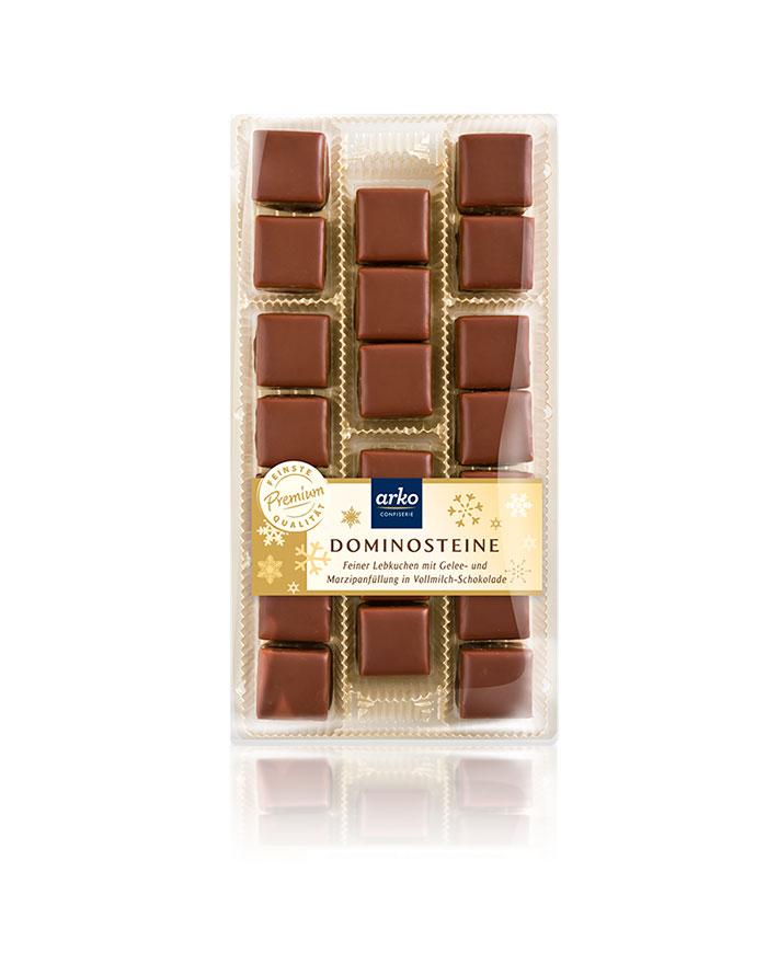 Dominosteine Vollmilch-Schokolade von arko, 250 g