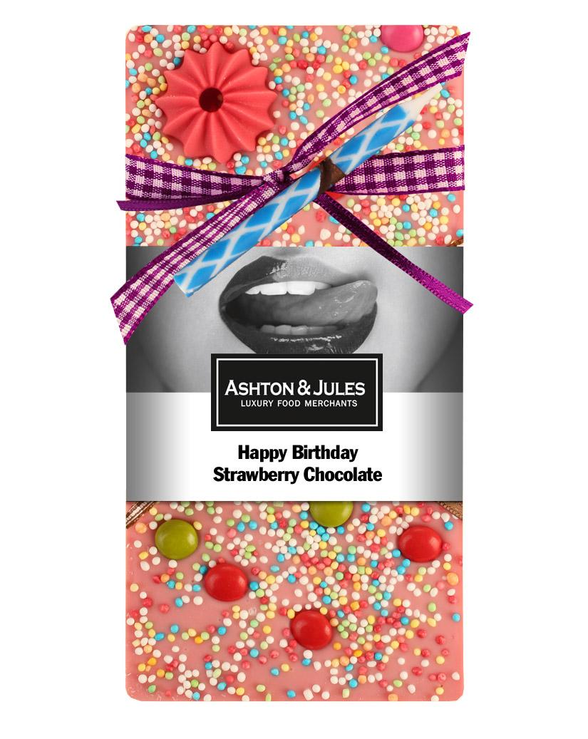 Schokolade Erdbeere Happy Birthday von Ashton & Jules 100 g - broschei