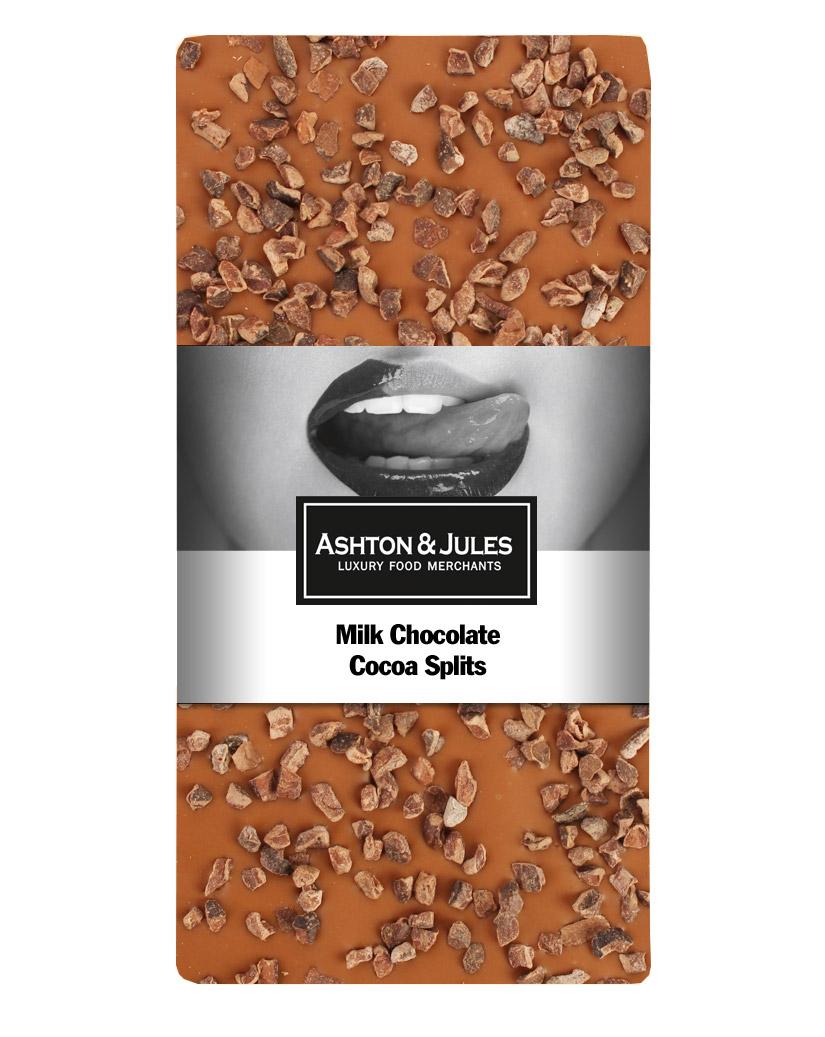 Schokolade Vollmilch mit Kakao Nibs von Ashton & Jules 100 g jetztbilligerkaufen