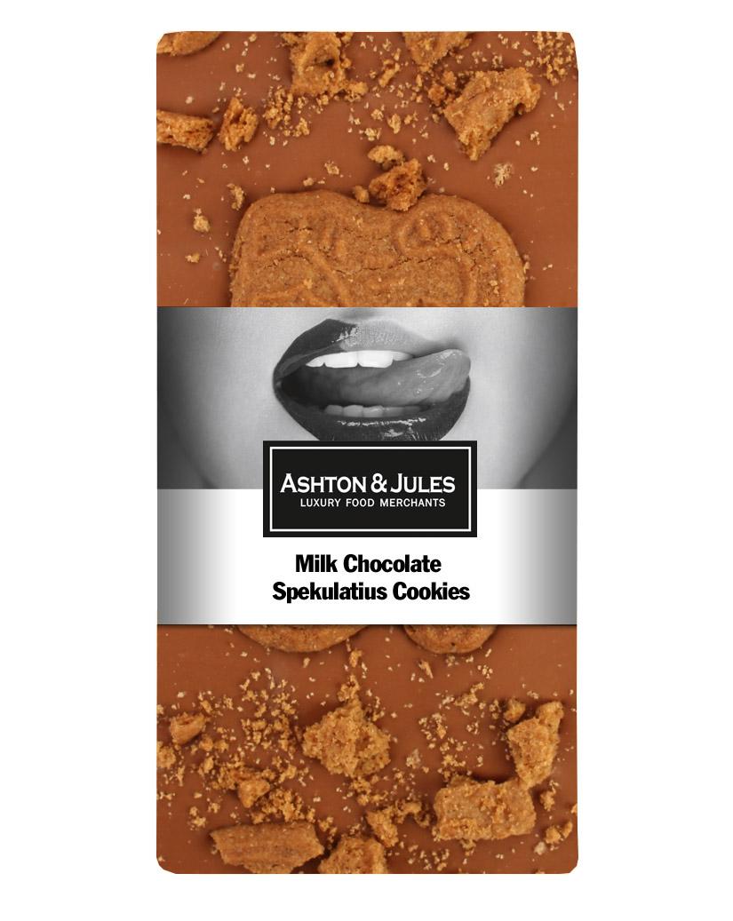 Schokolade Vollmilch mit Spekulatius von Ashton & Jules 100 g - broschei