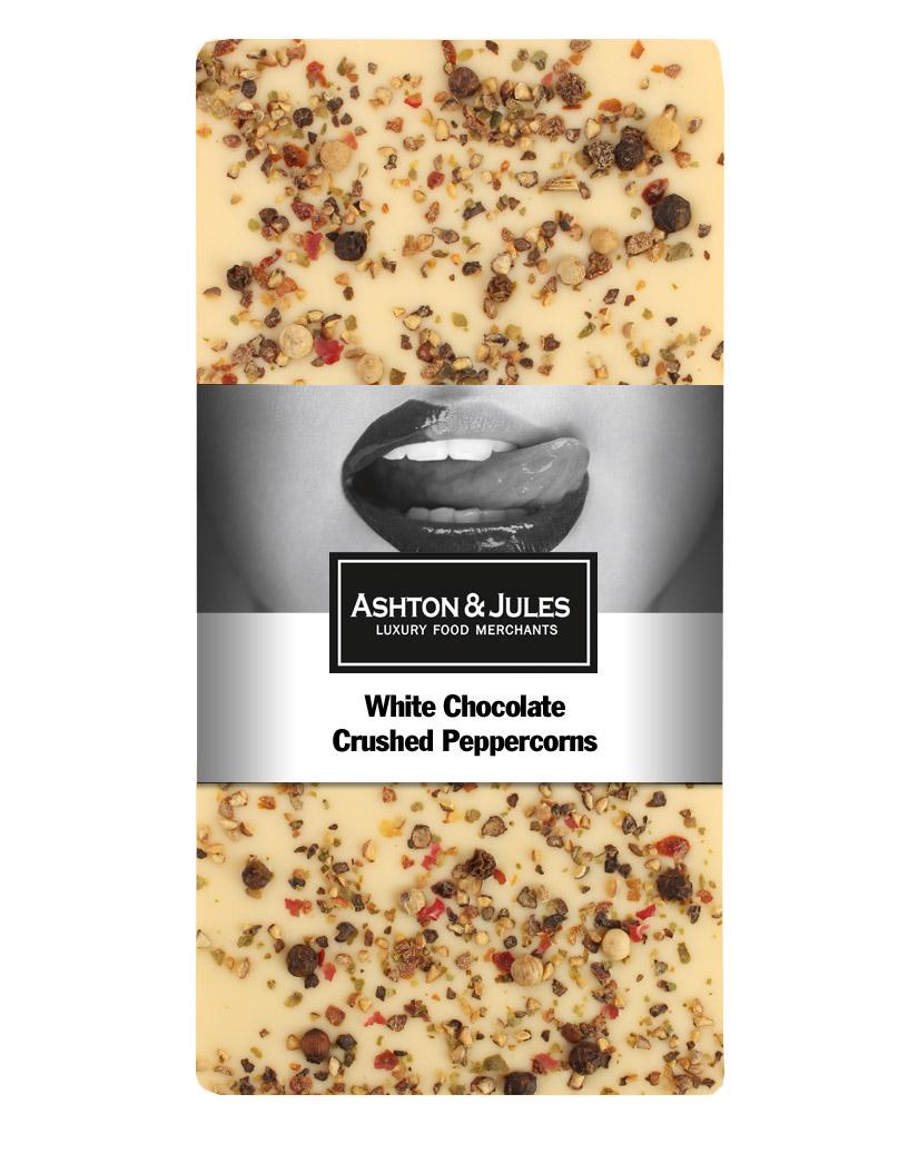 Schokolade Weiss mit buntem Pfeffer von Ashton & Jules 100 g jetztbilligerkaufen