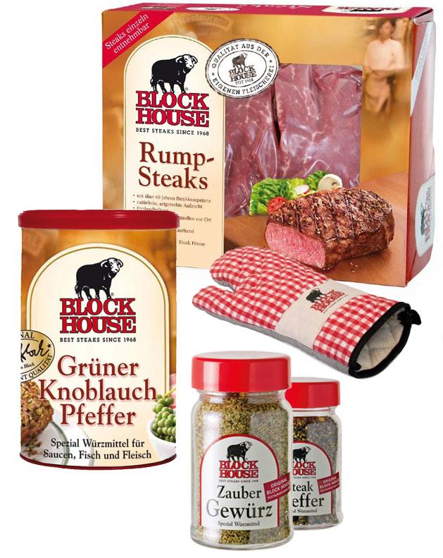 RUMPSTEAK PREMIUM Set mit Frischfleisch, Steakp...