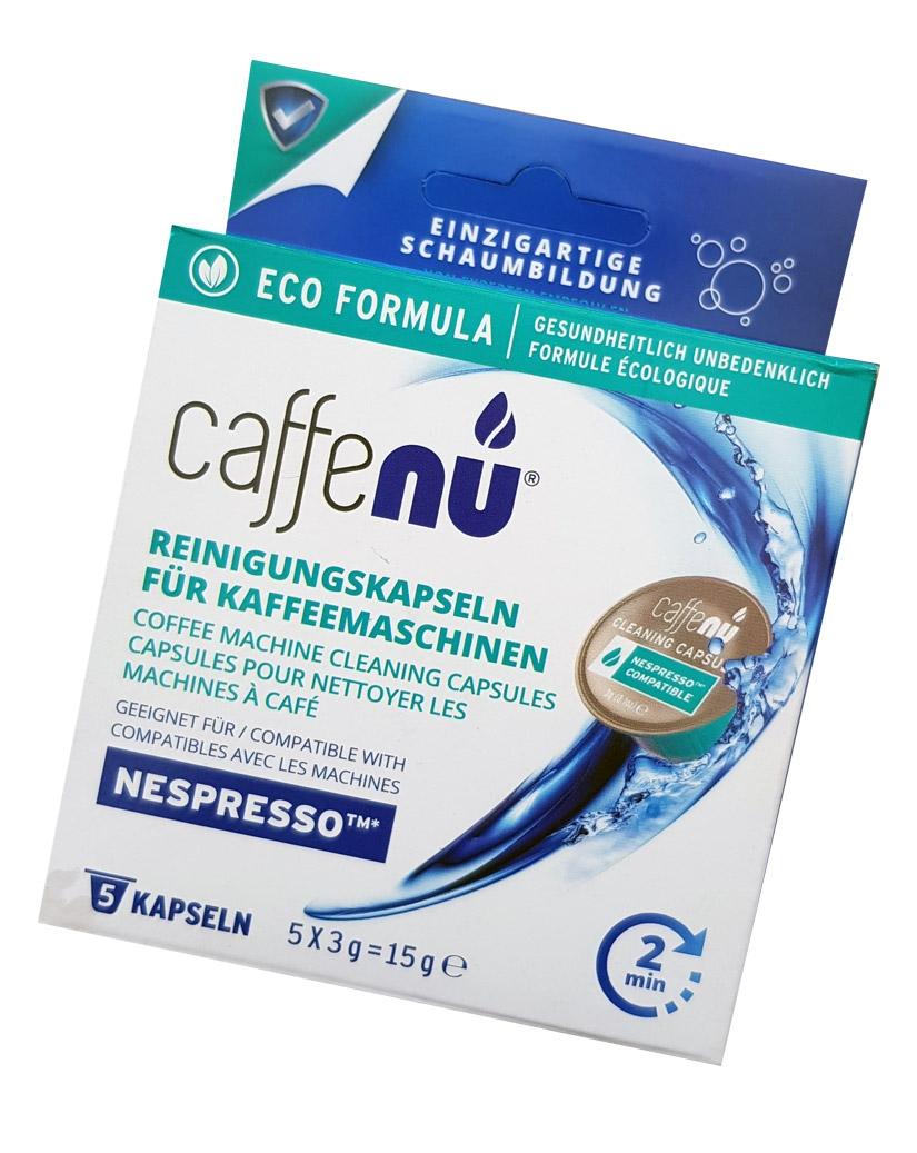 Caffenu Reinigungskapseln für Nespresso Maschinen, 5 Stück