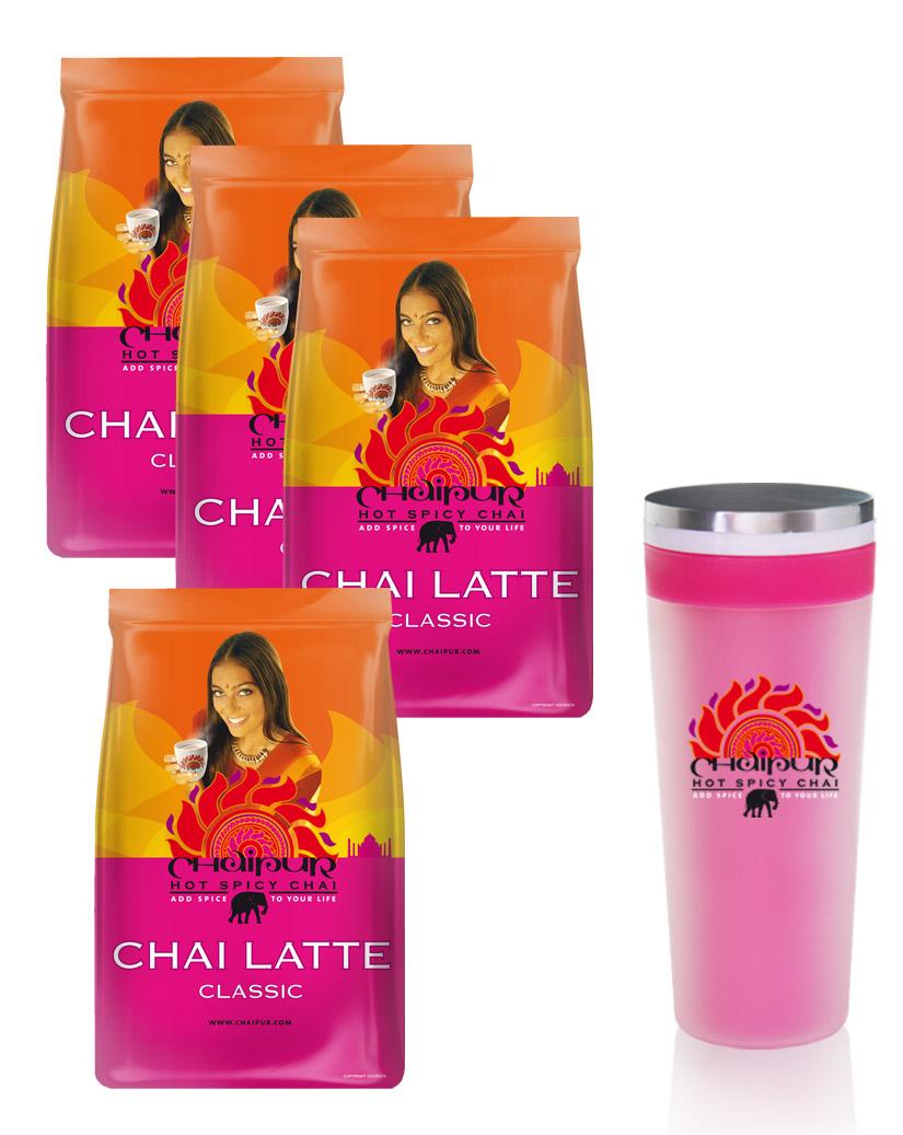 chaipur-chai-latte-4-x-500g-und-kostenlosen-mixbecher