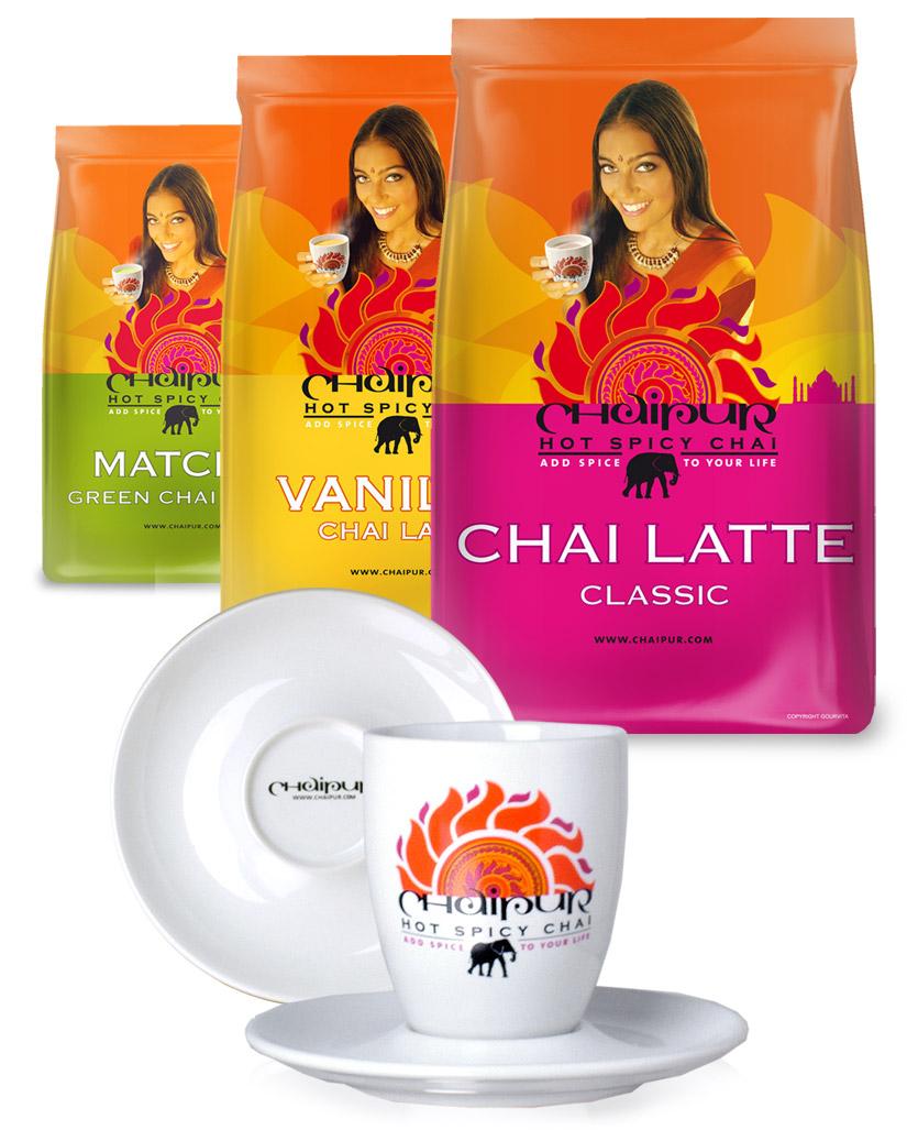 CHAIPUR Genuss-Package mit allen drei Sorten und original Tasse
