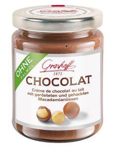 Grashoff CHOCOLAT Milch Schoko-Creme mit gerösteten Macadamia 235 g