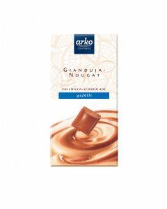 Schokolade Gianduja-Nougat, Vollmilch-Schokolade, 100 g