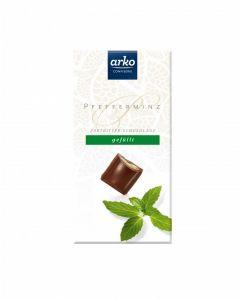 Schokolade Pfefferminz, Zartbitter-Schokolade, 100 g