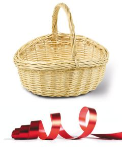 FLECHTKORB Geschenkeverpackung zum Dazubestellen
