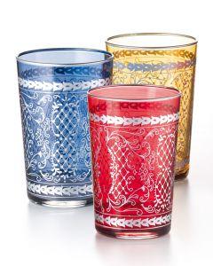 Arabische Teegläser 1001 Nacht, 3-er Sparset