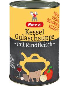 Kessel Gulaschsuppe mit Rindfleisch von MENZI, 4.200g