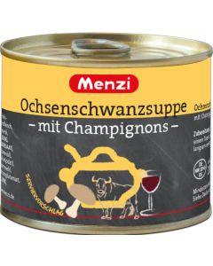 Ochsenschwanzsuppe mit Champignons von MENZI, 5x200ml