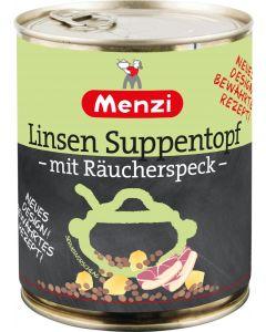 Linsen Suppentopf mit Räucherspeck von MENZI, 800g