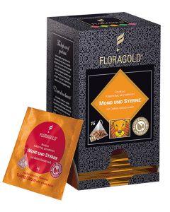 Rooibostee Mond und Sterne Pyramidenbeutel von Floragold, 15er Pack