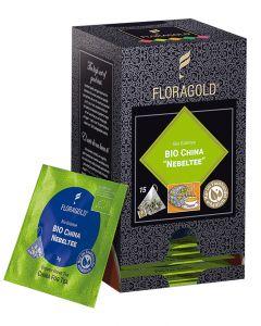 Bio Grüntee China Nebeltee Pyramidenbeutel von Floragold, 15er Pack