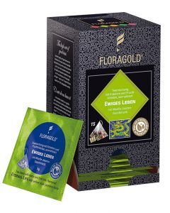 Grüntee Ewiges Leben Pyramidenbeutel von Floragold, 15er Pack