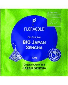 Bio Grüntee Japan Sencha 100er Pyramidenbeutel von Floragold,
