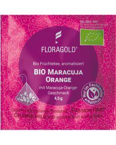 Bio Früchtetee Maracuja Orange mild 100er Pyramidenbeutel von Floragold,