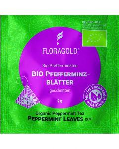 Bio Pfefferminzblätter geschnitten 100er Pyramidenbeutel von Floragold,