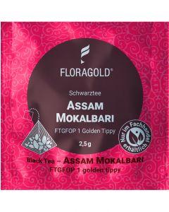 Schwarztee Assam FTGFOP 1 Mokalbari Golden Tippy 100 Pyramidenbeutel von Floragold,