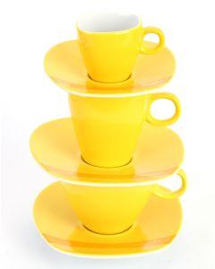 Alfredo Trendgeschirr gelb Tassenturm für Espresso, Cappuccino & Caffé