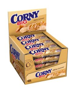 CORNY BIG White Caramel Riegel, 24 x 40g