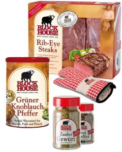 RIB EYE PREMIUM Set mit Frischfleisch, Steakpfeffer & Co.