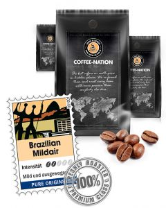 Luxuskaffee Brazilian Mildair von Coffee-Nation 500 g