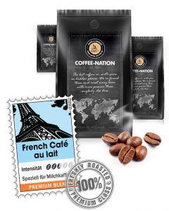French Cafe au Lait Kaffeebohnen von Coffee-Nation 500 g